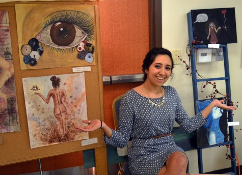 Senior Marisa Saldana showcases her artwork.
