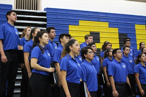 Bishop Amats Chamber Singers perform at Mass.