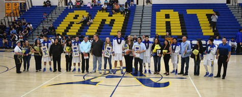 Lancers defeat the Mustangs, 65-50, at senior night