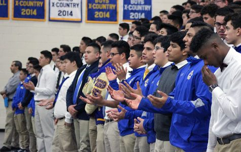 Monsignor Encourages Students to Celebrate Their Faith