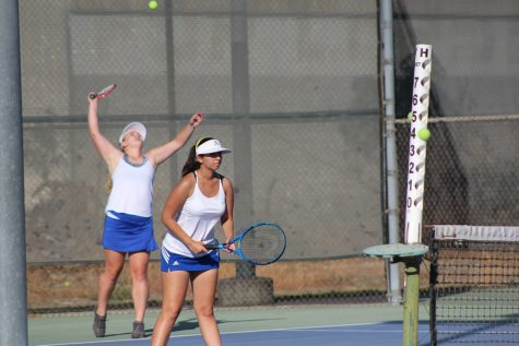 Girls' tennis takes on Bishop Montgomery for senior night