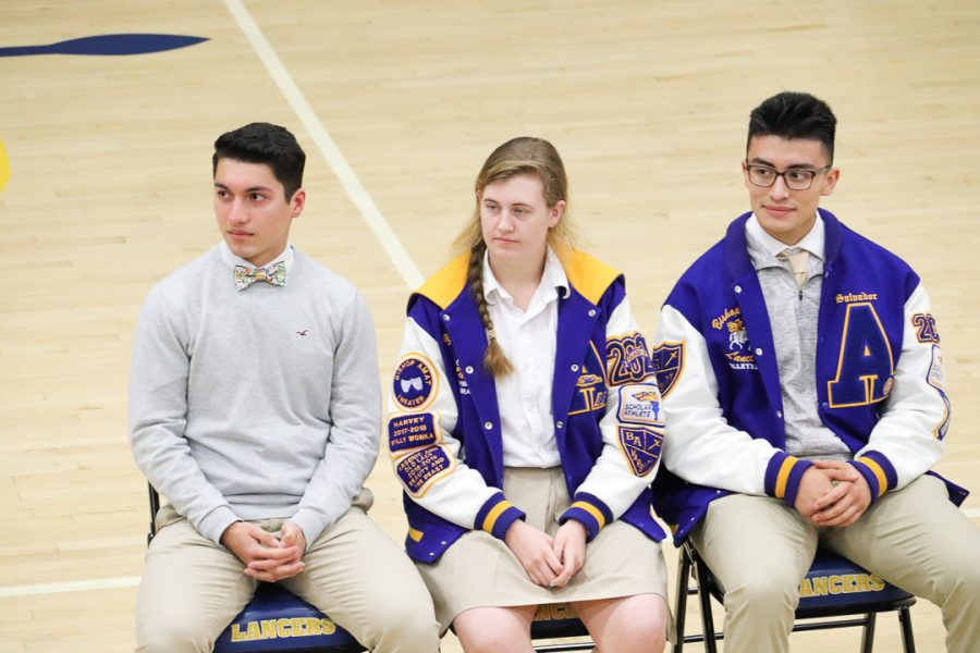 Jadin Verduzco, Lucia Morales , and Salvador Rodriguez wait patiently for their turn to speak.