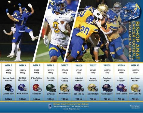 Bishop Amat travels to Seattle in the latest 2020 Football Schedule