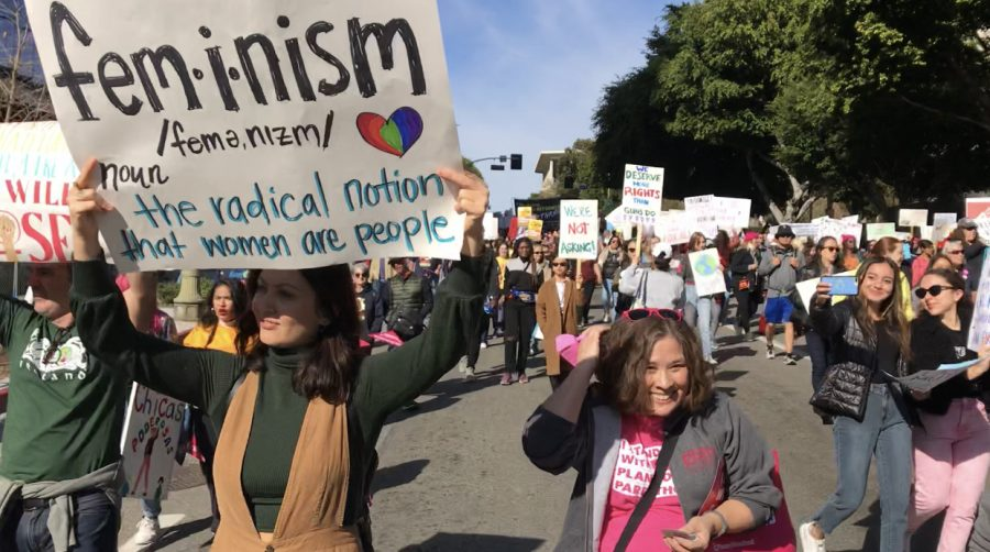 Marchers call for equality at the Womens March