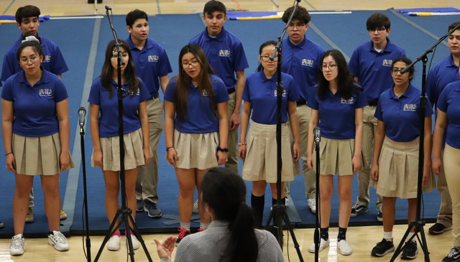 The chamber singers are showing off some of the songs.