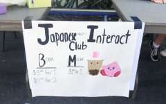 Sign of the sale for the Japanese and Interact club made by the member,