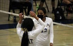 Mariyah Torres celebrates after scoring a point.